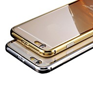 Luxury Plated Metal Frame Adds Transparent PC Cover Phone Shell for  Phone 6
