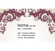 Personalized Business Cards 200 PCS Classic White Ande Red Figure Pattern 2 Sided Printing of Fine Art Filmed Paper