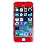 LR-0823 Mobile Phone Toughened Glass Protective Film,Phone Tempered Screen Protector for iPhone 5 /5S Red