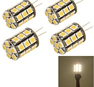 youoklight®  4PCSG4 4W 27*SMD5050 250LM Warm/Cool White Light Corn Bulbs  (AC/DC12V)