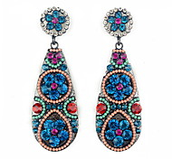 YUAN Fashion Casual High Quality Waterdrop Rhinestone Earrings