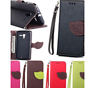 Leaves PU Leather Full Body Case with Card Slot, Stand and Strap for Motorola Moto X XT1055/1058/1053 (Assorted Colors)