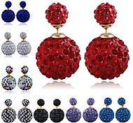 Multicolor Ball Diamond Earrings