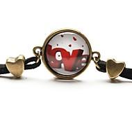 tempo art colar de amor jóia de árvore pulseira de vidro cabochão