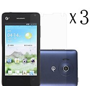 [3-Pack] High Transparency LCD Crystal Clear Screen Protector with Cleaning Cloth for Huawei Y300/U8833/T8833