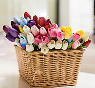 Set Of 6 Fake PU Tulip Flowers ,Resin Random Color