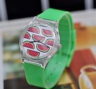 Women's Sweet watermelon pattern Fashion Watch  Plastic Watch Circular High Quality  Watch
