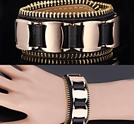 U7® Bracelet 18K Real Gold Plated Brand Genuine Leather Bracelet 3 sizes adjustable For Men \ Women Jewelry