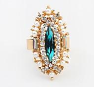 "Fashion Pearl Rhinestone Exquisite Statement Rings"""
