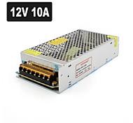 SPD-120W 12V10A CCTV Accessories Camera system Power Supply Transformer Metal - Silver (AC 110-220V)
