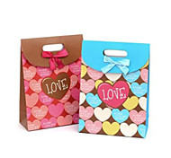 Lureme Fashion New Style Mutilcolor Hearts Pattern Flip Gift Bag(Random Color)(1 Pc)