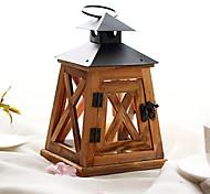 European Style Retro Wooden Candle Lantern