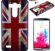 el patrón de bandera británica pc caso de la contraportada con el enchufe a prueba de polvo para g3 lg