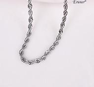 eruner®unisex plata de 5 mm collar de cadena No.111