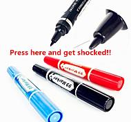 Shock-You-Friend Emulational Electric Marking Pen Practical Joke Gadgets(1PCS,Random Color)