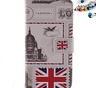 The British Flag Pattern PU Leather Full Body Case with Card Slot And Stand  with Dustproof Plug for Motorola G2