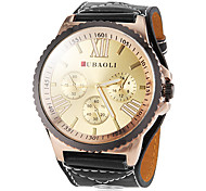 Women's Big Round Gear Case Roman Number Dial PU Band Analog Quartz Fashion Watch (Assorted Colors) Cool Watches Unique Watches