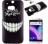 Teeth Pattern PC Back Cover Case With Dustproof Plug for HTC One(M8)