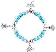 rétro style bohème turquoise petits accessoires bracelet