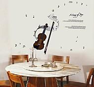 as paredes violino notação de música adesivos