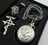 Fullmetal Alchemist Edward Elric montres de poche + + anneau collier accessoires cosplay fixés (3pcs)