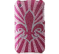 rosa fondo caso duro del pc fiore bling per iPhone 3G / 3GS