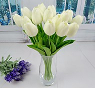 "New White Red Yellow Orange Artificial Tulip 6 Pieces/Lot Stem 13.38"" for Wedding and Party Decoration"