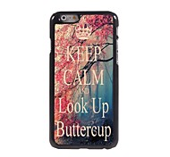 Keep Calm and Look Up ButterCup Design Aluminum Case for iPhone 6
