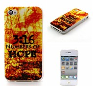 3:16 Numbers of Hope Words Phrase Pattern Ultra-Thin Case for Apple iPhone 4/4S