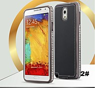 SHENGO™ Diamond Metal With Leather Case for samsung note3(Assorted Color)