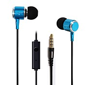 BEBONCOOL™  Metal Stereo Headset  with Mic and Volume Control for Iphone/HTC/Samsung/Huawei , Headphone(Assorted Colors)