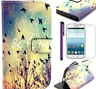 Be Free Pattern PU Leather Case with Film and Stylus and Stand for Samsung Galaxy Grand Neo I9060