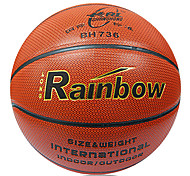 Rainbow Abrasion Resistant Pu Synthetic Leather Basketball Indoor Outdoor Concrete Floor
