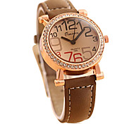 Women's Casual Number Leather Guartz Wrist Watch(Assorted Colors)