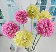 "Green Cream Artificial Big Ball 4 Pieces/Lot 29.12"" Stem for Home Decoration"