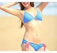 Mode Dot dentelle sexy vêtements de plage bikini ensemble de maillots de bain maillot de bain de maillot de bain des femmes biquini