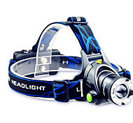 Lights LED Flashlights/Torch / Headlamps LED 800 Lumens Mode Cree T6 18650 Adjustable Focus / Waterproof / Rechargeable