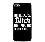 Bitch Design Aluminium Hard Case for iPhone 5/5S