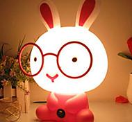 Cute Cartoon Glasses Rabbit 20W LED Small Table Lamp 220V