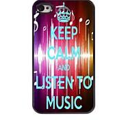 Listen To Music Design  Aluminum Case for iPhone 4/4S