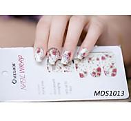 14PCS Cartoon Warm Color Nail Art Stickers MDS1013
