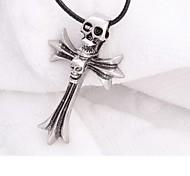 Titanium Steel Skeleton Cross Necklace