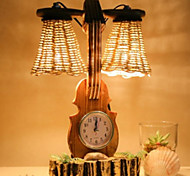 15W LED Dimming Open Light F125 Guitar Clock Small Table Lamp220V
