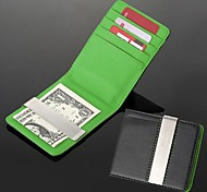 personnalisé métal cadeau gravé leatheroid vert argent noir argent portefeuille pince