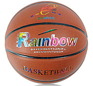 Rainbow Indoor Outdoor Tournament Training Pu Abrasion Resistant Leather Basketball