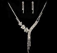 Women's Cubic Zirconia/Alloy Jewelry Set Cubic Zirconia