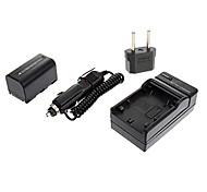Ismartdigi-Samsung SB-LSM160(1600mAh,7.4V)Camera Battery+EU Plug+Car Charger For Samsung D351/D361/D371/163/171/