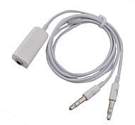 3,5 mm Audio-Lautsprecher Doppeldraht-Transformation auf einzelne Headset Draht, Anzug für Notebook, PC (weiß)