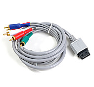 1.8M 5.904FT Wii 30Pin Male to 5RCA Male Gold-Plated HD Video Audio TV Display Cable for Wii Support 480P