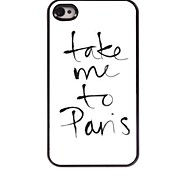 Take Me To Pans Design  Aluminum Case for iPhone 4/4S